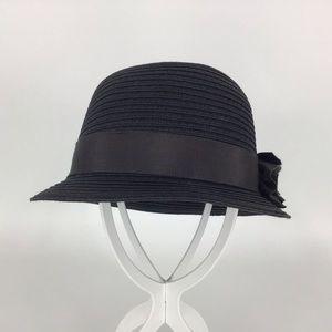 Goorin Bros. Lilith Black Straw Cloche Hat, Medium